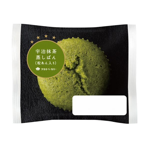宇治抹茶蒸しぱん(粒あん入り)